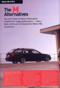 Alpina B10 - V8 & B8 - 4.6 Saloon - The M Alternatives